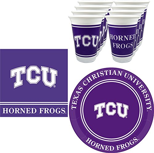 Westrick TCU Horned Frogs Party Supplies - 48 Pieces (Serves -