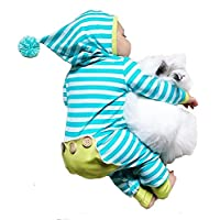 Newborn Baby Boy Girl Long Sleeve Striped Romper Bodysuit Hooded Outfit Cloth...