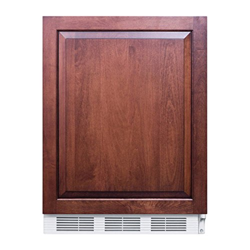 Summit FF61BIIF Refrigerator, Brown (Stainless Steel Summit Frame)