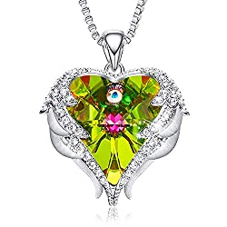 Pendant With Embellished Green Crystal from Swarovski