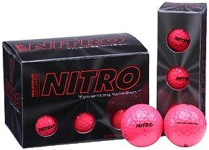 Nitro Maximum Distance Golf Ball (12-Pack), Pink