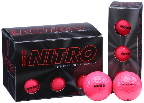 Nitro Maximum Distance Golf Ball (12-Pack), Pink