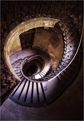 Posterlounge Cuadro de metacrilato 30 x 40 cm: Old Ruined Spiral Staircase de Jaroslaw Blaminsky: Jaroslaw Blaminsky: Amazon.es: Hogar