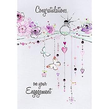 Amazon Com J6578jeng Jumbo Engagement Card Heartfelt Thanks