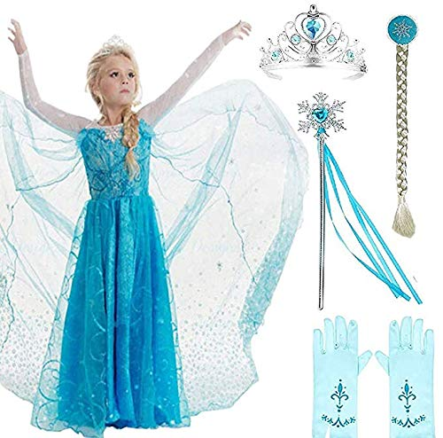 SweetNicole Snow Queen Elsa Princess Party Dress Costume