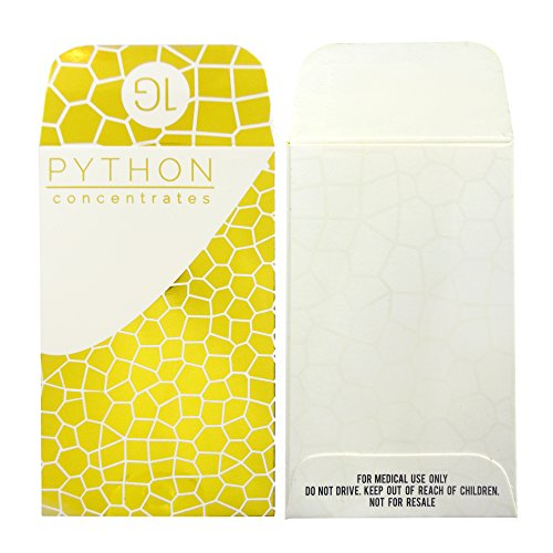 250 Premium PYTHON CONCENTRATES Gold Foil Spot UV Matte Shatter Labels Envelopes #161 by Shatter Labels