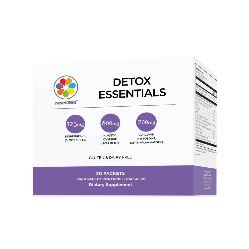 Reset360 Detox & Cleanse Program - 30 Packets Complete Multivitamin (for Liver Cleanse and Weight Loss) from MIT-Trained Dr Sara Gottfried Author of The Hormone Reset Diet by Reset360