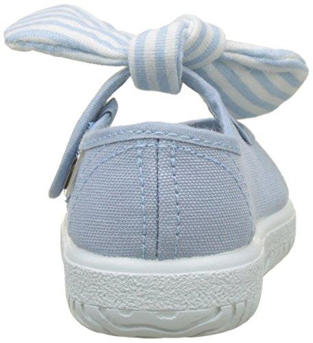 Para Azul nube Mercedes Victoria Bebés Bailarinas Pañuelo Lona S8S10Y