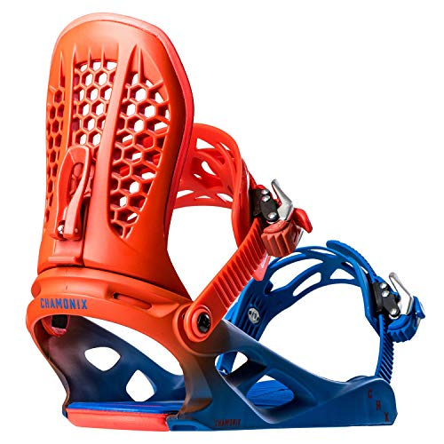 Chamonix Brevent Mens Snowboard Bindings Blue Fade Sz L (9-13)