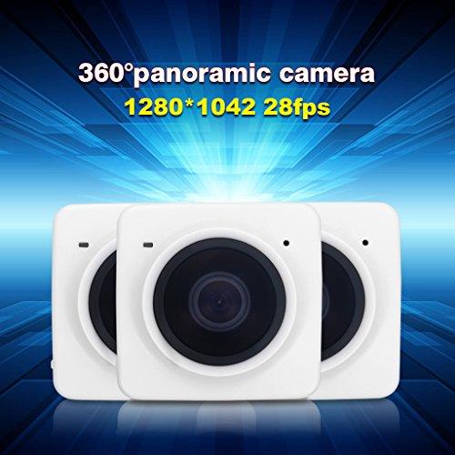Floureon Cube 360 Degree Wide Angle Action Sports Camera Video DV WIFI H.264 1280x1042 Panorama Camera (White) Floureon