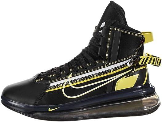 Nike Air Max 720 Saturn All Star Qs Hombres Zapatos Negro/Dynamic Amarillo  bv7786-001