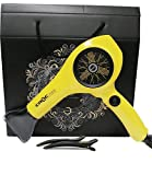 2500 watts hair dryer - Croc TU'KAY Deluxe Blow Hair Dryer Professional Quite, Light and Strong Hair Dryer-YELLOW with Tion Silicone Hair Clips