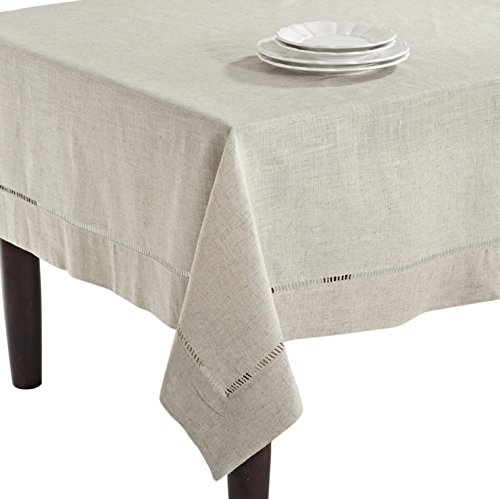SARO LIFESTYLE 731 Toscana Tablecloths, 90-Inch, Square, - Square Polyester Inch 90 Tablecloth