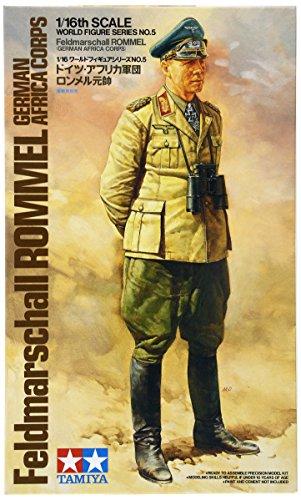 Tamiya 3000363051: 16WWII Figure Feldmarschall Rommel Africa - Miniature Aircraft Usa