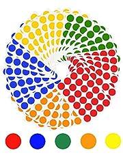 SIYI-XIU 19 mm prickar klistermärken runda prickig klistermärken självhäftande prickar färgglada klistermärken runda prickar klistermärken för hemmakontor artiklar, 5 färger 720 st färgkodningsetiketter
