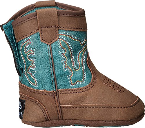 M&F Western Baby Boy's Bucker Open Range (Infant/Toddler) Brown/Turquoise Boot 3 Infant M by M&F Western (Image #2)