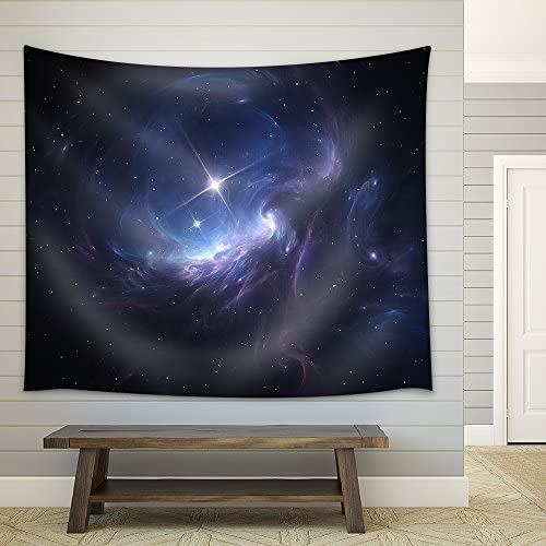 Space Nebula Cloud of Gas and Dust Blocks The Light of Distant Stars Fabric Wall