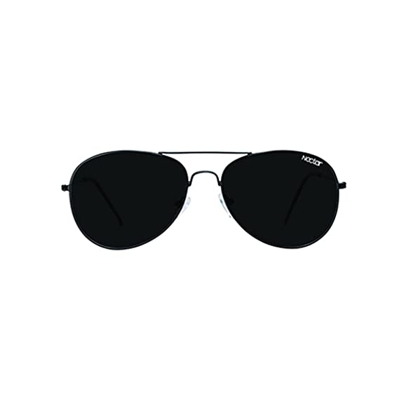 13f3b121f3 Classic Black Metal Aviator Sunglasses with Black Polarized Lenses   UV  Protection - the Dante by Nectar  Amazon.in  Clothing   Accessories