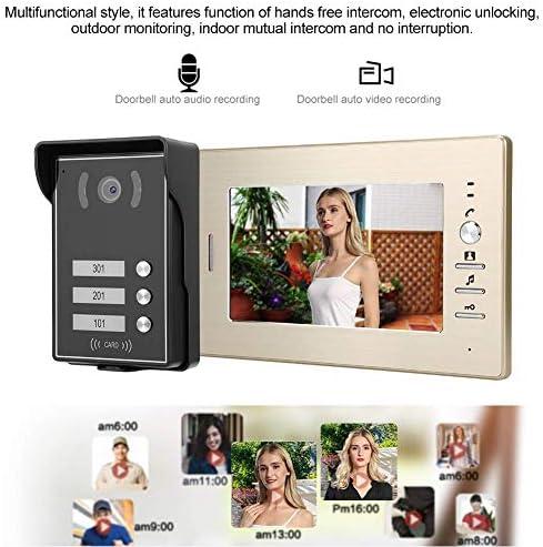 ドアベル、3モニター7インチビデオインターホンドアホンシステムスマートアクセスドアカメラ(ホームオフィスアパートメント用)(英国)