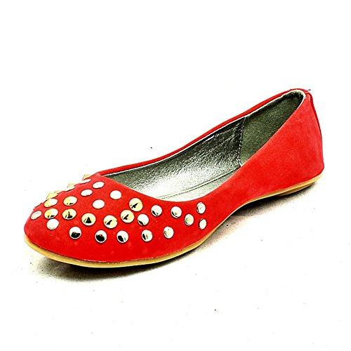 Coral suédine clouté chaussures plates