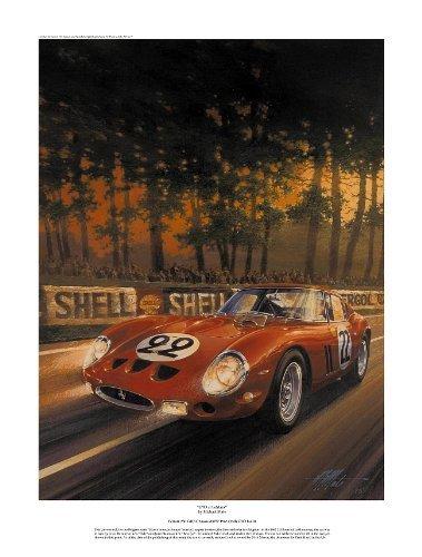 (Ferrari GTO At LeMans- Vintage Racing Print)