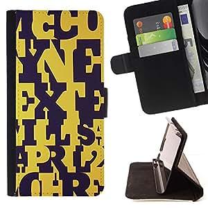 For Sony Xperia Z3 Plus / Z3+ / Sony E6553 (Not Z3) Case , Cartas Negro Amarillo Maestro Patrón- la tarjeta de Crédito Slots PU Funda de cuero Monedero caso cubierta de piel