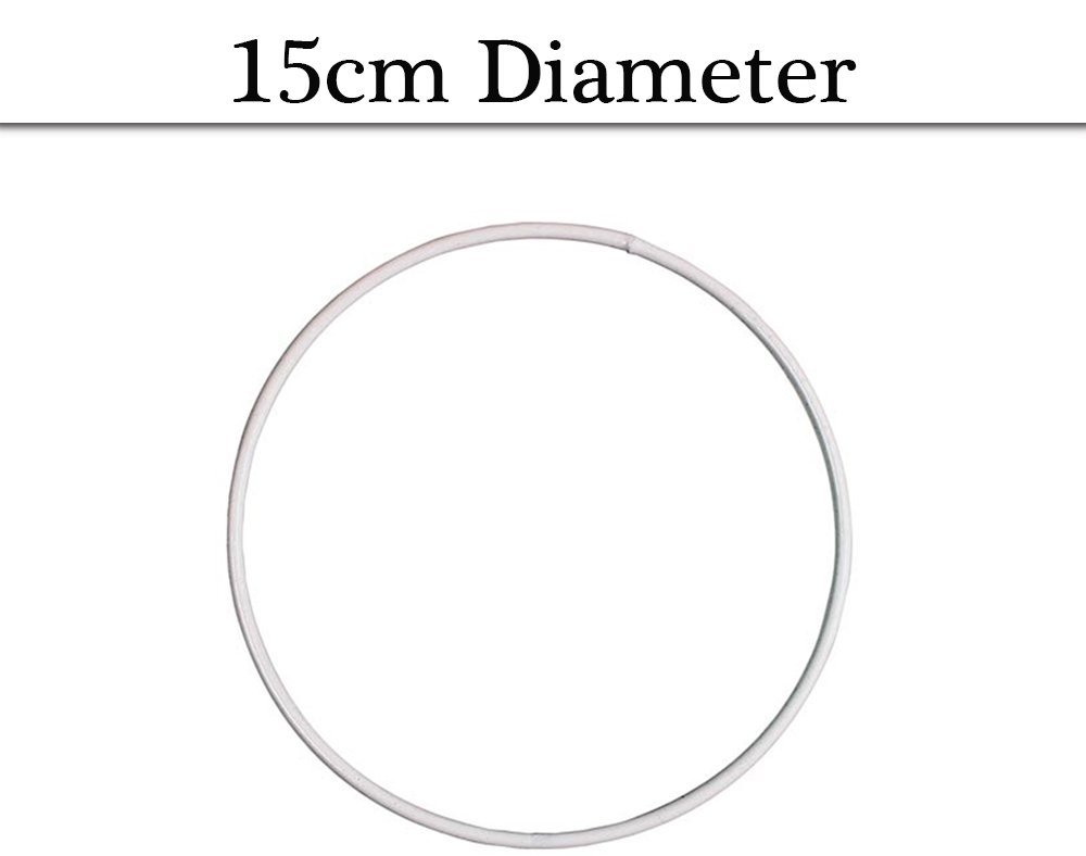 White Coated Metal Ring For Crafts - 30cm | Metal Wire & Craft Hoops ...