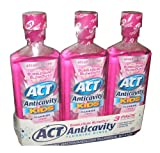 ACT Anticavity Kids Flouride Rinse Bubble Gum Blowout Flavor 18 Ounce Bottles (Pack of 3)