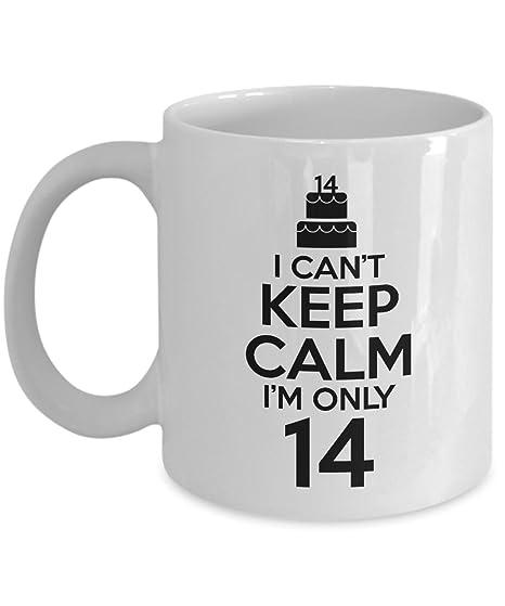 Amazon.com: I Can t Keep Calm 14 años de edad taza de café ...