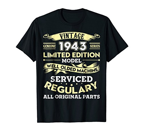 Vintage Shirt Perfectly Age 1943 75th Years Old 75 Birthday