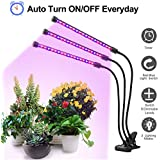 Plant Grow Light with Timing Function, CANAGROW 54W Plant Lamp LED Grow Lights for Indoor Plants, 3 Head Timing Grow Light, 3/9/12H Timer, 9 Dimmable Levels, 360 Degree Adjustable Gooseneck