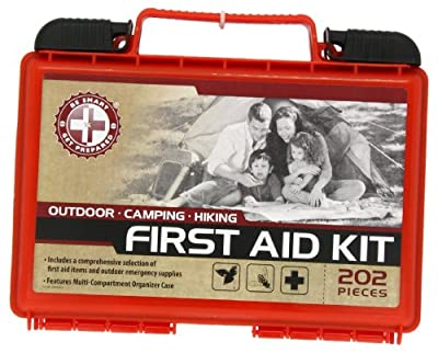 Be Smart Get Prepared 202 Piece First Aid Kit, Outdoor, 1.5 Pound from Be Smart Get Prepared