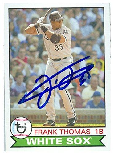 Frank Thomas Autographed Baseball Card Chicago White Sox Big Hurt