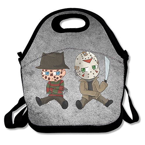 Bakeiy Nightmare On Elm Street Lunch Tote Bag Lunch Box Neoprene Tote For Kids And Adults For Travel And Picnic School