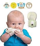 MITTEEZ Organic Premium Teething Mitten and Keepsake for babies 0-6 months - Green