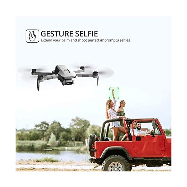 4DRC F8 Drone con Telecamera 4K UHD Drone GPS Pieghevole FPV RC con Ritorno Automatico a Casa, modalità Ritorno Home,Seguimi, Controllo Gestuale, 2 Batterie per 40 Minuti Volo e Valigetta da Trasporto 6 spesavip