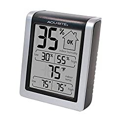 AcuRite 00613 Indoor Thermometer & Hygrometer with Humidity Gauge, 3 H x 2.5 W x 1.3 D