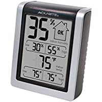 AcuRite 00613 Humidity Monitor with Indoor Thermometer,...