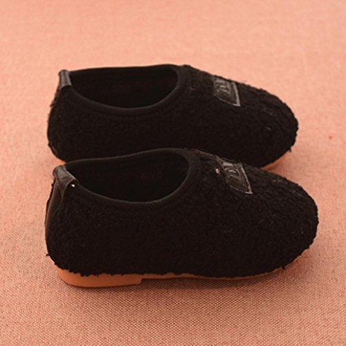 Huhu833 Kinder Neugeborenen Cartoon Flock Warm Baby Mädchen Schuhe Turnschuhe Stiefel Schwarz