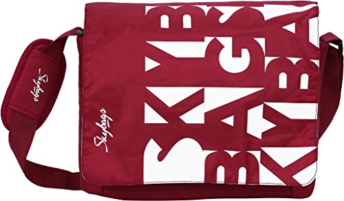 Skybags Polyester 34.5 cms Red Messenger Bag (MBSPIRED)
