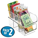 mDesign Refrigerator, Freezer, Pantry Cabinet Organizer Bins for Kitchen - 11