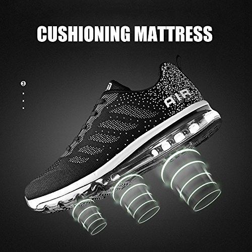 deportivas aire deporte Gimnasio Zapatillas deportivos de Monrinda de Zapatillas running Zapatillas Negro libre de de absorción correr al aire Mujer para Zapatos transpirables x7a6Yqwa