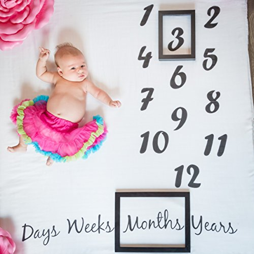 Danha Baby Milestone Blanket Monthly Photo Prop | Infant Bab