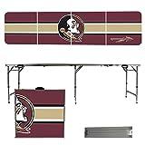 NCAA Florida State University Seminoles FSU Stripe Version 8' Folding Tailgate Table