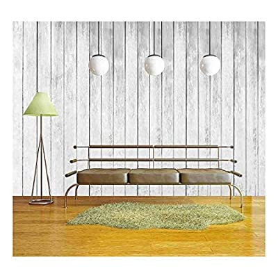 White Wood Fence Texture Background Wall Decor - Wall Murals