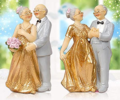 Amazon cake toppers golden marriage couples in a golde car 50th cake toppers golden marriage couples in a golde car 50th anniversary cake topper wedding decoration accessories junglespirit Choice Image