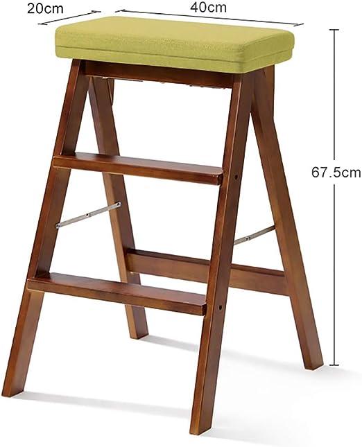 Wood Step Stoo Escalera plegable del taburete del paso de madera sólida para la cocina de