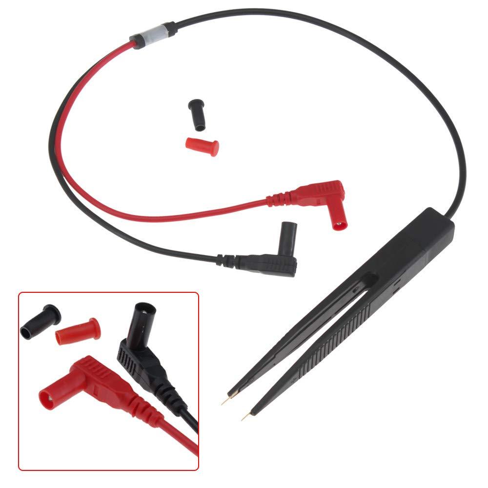 Islandse 70cm Multimeter Probe 10mm Car Digital Multimeter SMD Inductor Test Clip Meter Probe Tweezers for Resistor Multimeter Capacitor Black by Islandse_💗Cell Phone Accessories (Image #3)