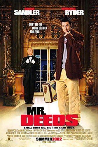 Amazon Com Mr Deeds 2002 Original Authentic Movie Poster 27x40 Rolled Dbl Sided Adam Sandler Winona Ryder John Turturro Allen Covert Everything Else