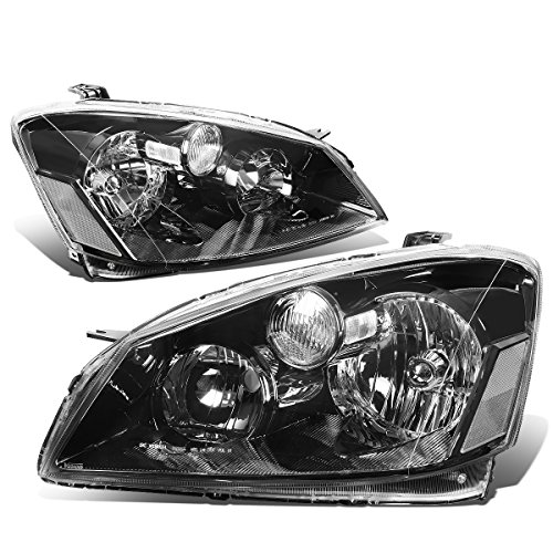 DNA Motoring Black clear HL-OH-070-BK-CL1 Pair of Headlight Assembly [05-06 Nissan Altima]